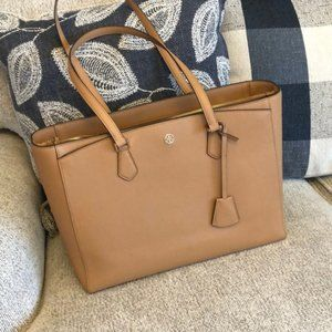 Large Tory Burch Robinson brown handbag